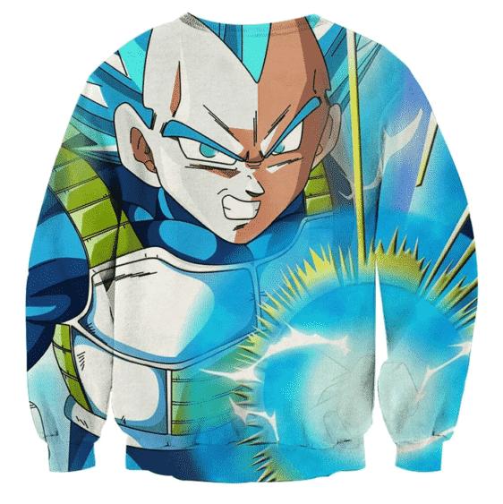 Dragon Ball Super Saiyan Vegeta Blue Epic Energy Punch Sweater