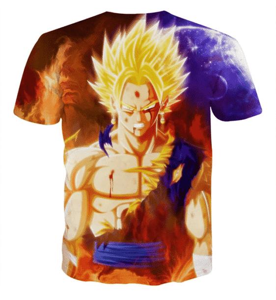 Dragon Ball Z Vegito Super Saiyan Angry Bruised Dope T-Shirt