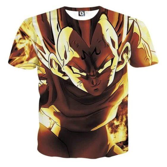 Dragon Ball Z Dope Majin Vegeta Grin Yellow Aura T-Shirt