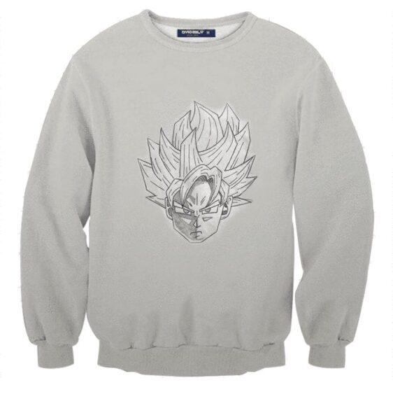 Dragon Ball Super Goku Blue Saiyan Doodle Fan Art Sweatshirt