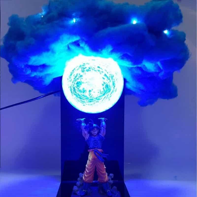 Anime Dragon Ball Z Figure Son Goku Spirit Bomb Display Lamp Gift Night Light