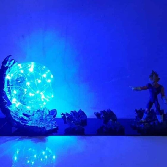 Vegeta Super Saiyan Big Bang Attack Blue Flash Ball DIY 3D LED Light Lamp
