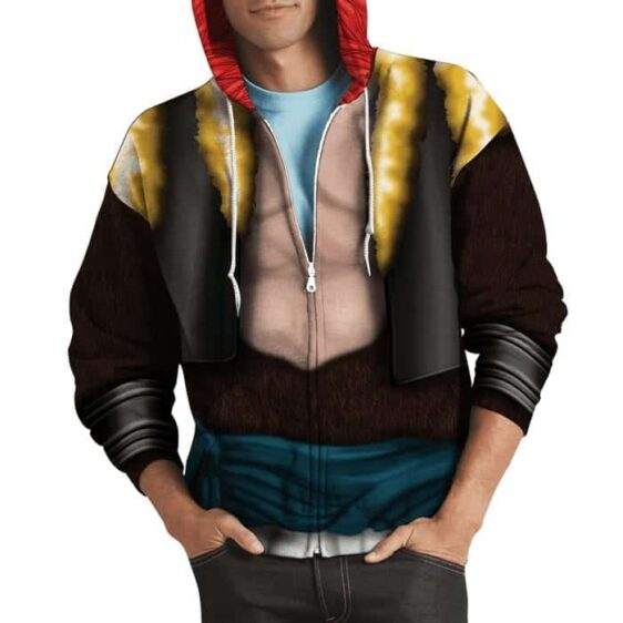 Dragon Ball Z Gogeta Super Saiyan Suit Cosplay Zip Up Hoodie