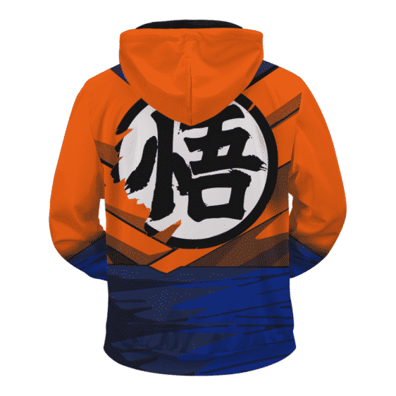 Dragon Ball Z SSJ1 Son Goku Inspired Cosplay Zip Up Hoodie