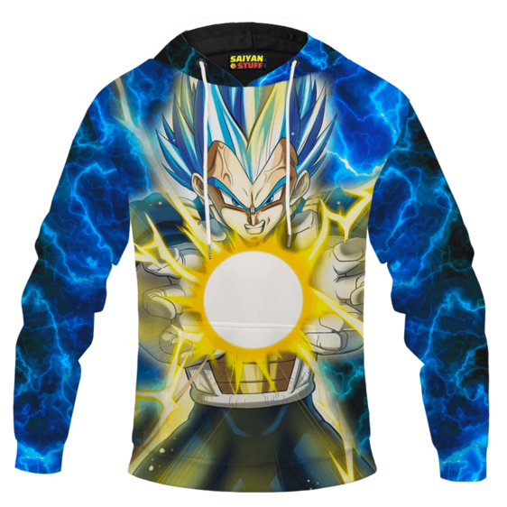 Dragon Ball Z Super Saiyan Vegeta Blue Hair Form Hoodie