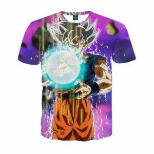 Dragon Ball Z Goku Ultra Instinct Form White Hair T-Shirt