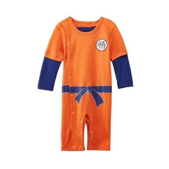 Dragon Ball Z Long Sleeve Goku's Kanji Logo Baby Jumpsuit