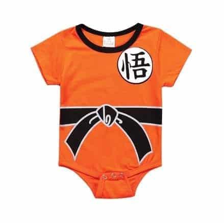 DBZ Short Sleeve Son Goku Kanji Logo Cosplay Baby Onesie