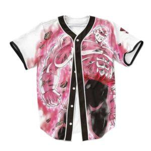 Dragon Ball Super Dope Jiren Full Power Pink Baseball Jersey