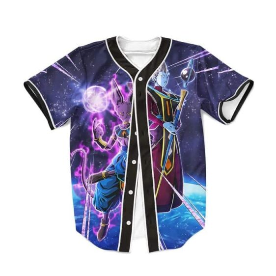 Dragon Ball Super Lord Beerus And Whis Blue Baseball Jersey