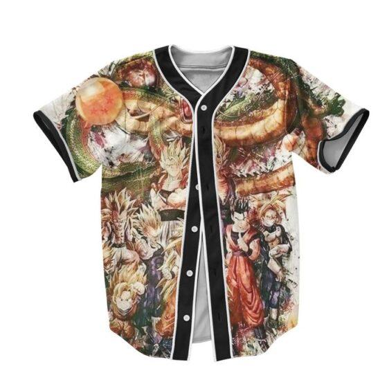 DBZ The Ultimate Shenron And The Saiyans Baseball Jersey