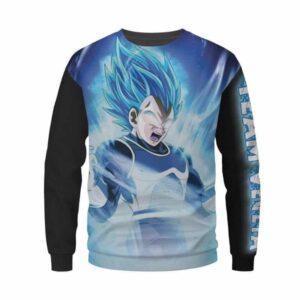 Dragon Ball Z Super Saiyan Vegeta Powerful Blue Sweatshirt