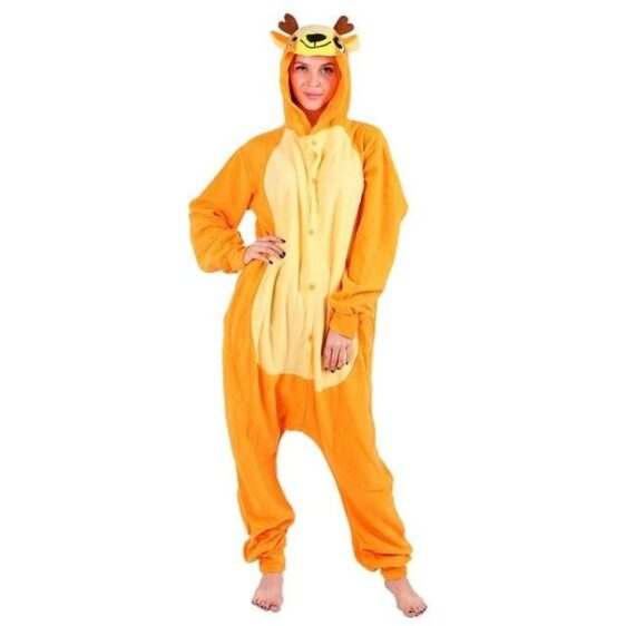 Adorable Happy Face Deer Onesie Suit Kigurumi Pajama