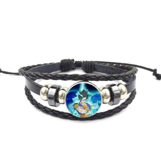 DBZ Vegito Potara Fusion Leather Braided Bracelet