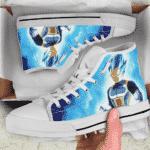 DBZ Prince Vegeta Power Aura Blue Awesomeness Sneaker Shoes