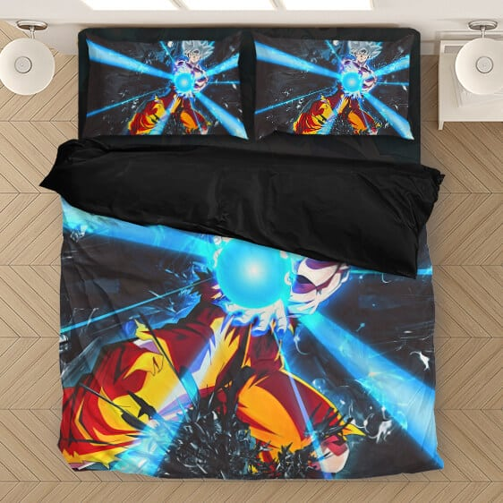 Powerful Son Goku Ultra Instinct Kamehameha Bedding Set
