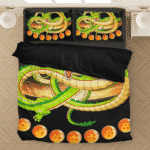 Shenron And Seven Magical Dragon Balls Black Bedding Set