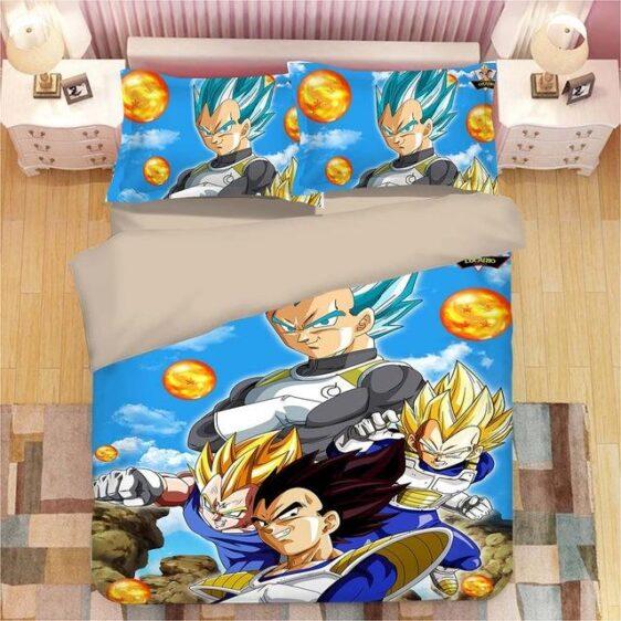 Dragon Ball Z Vegeta Different Saiyan Forms Bedding Set
