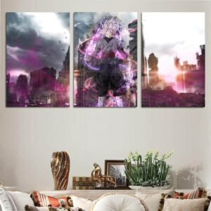 DBS Goku Rose Epic City Background 3pcs Wall Art Canvas Print