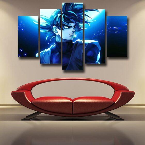 Dragon Ball Goku Black Fan Art Illustration 5pc Decor Canvas