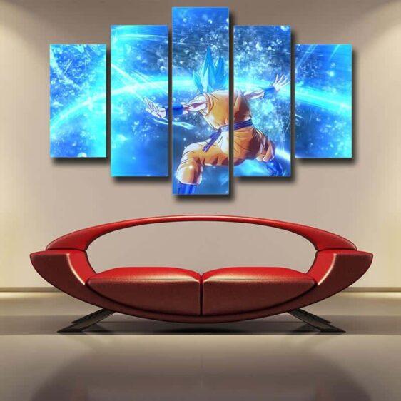 Dragon Ball Son Goku Super Saiyan God Cool 5pc Wall Art Print