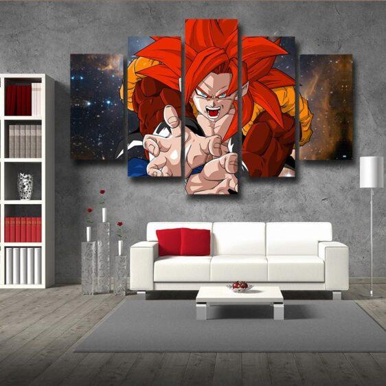Dragon Ball Gogeta Fighting Kamekameha 5pc Decor Canvas Print