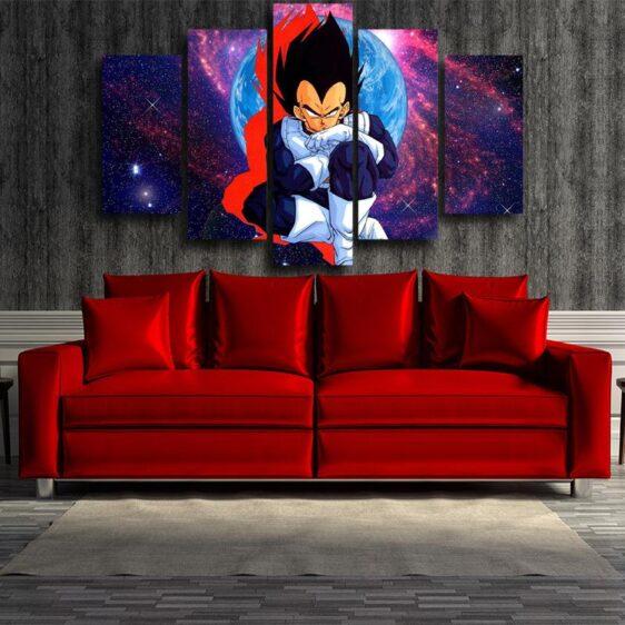 DBZ Vegeta Super Saiyan Warrior Galaxy 5pc Wall Art Canvas
