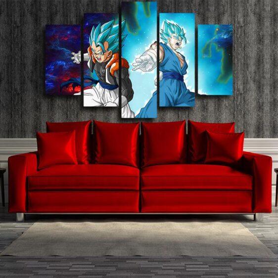 Dragon Ball Gogeta Vegito Cool Design Galaxy 5pc Wall Art Print