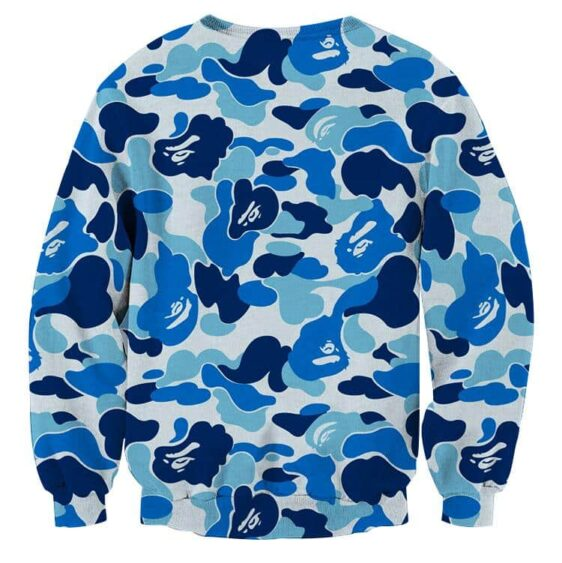 Kid Goku Hip Hop Blue Cameo Camouflage Streetwear Sweatshirt