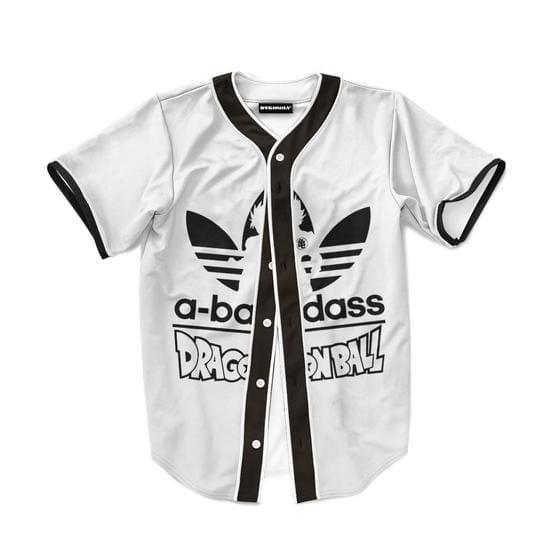 Dragon Ball Adidas Logo A Badass Funny Baseball Jersey