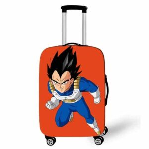 DBZ Vegeta Fierce Smirk Orange Suitcase Protective Cover