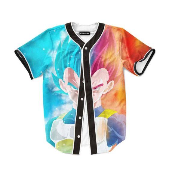 DBZ Vegeta Super Saiyan God Blue SSGSS Baseball Jersey