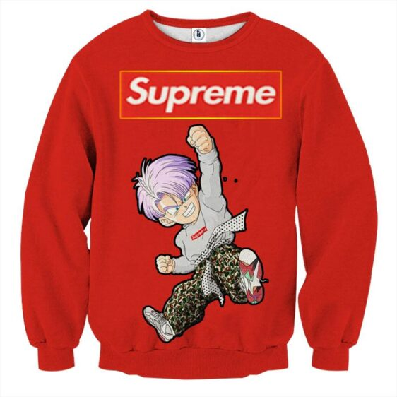Supreme Kid Trunks Jumping Red Trendy Fashion Sweatshirt