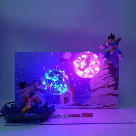 Goku Kamehameha Wave Vegeta Final Burst Cannon Flash Ball DIY 3D LED Light Lamp