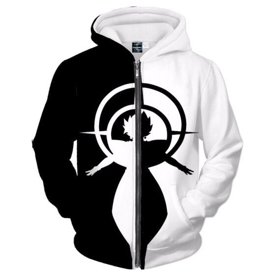 Dragon Ball Zamasu Black White Symbol Fashion Zipper Hoodie