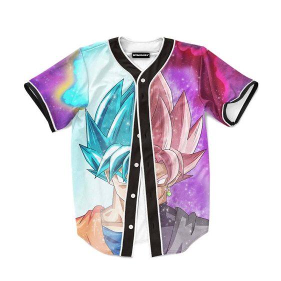 DBZ Goku SSGSS Black Rose Super Saiyan Baseball Jersey
