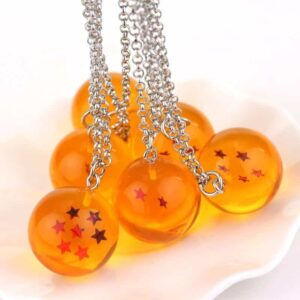 DBZ Shenron Seven Dragon Balls Yellow Jewelry Necklace