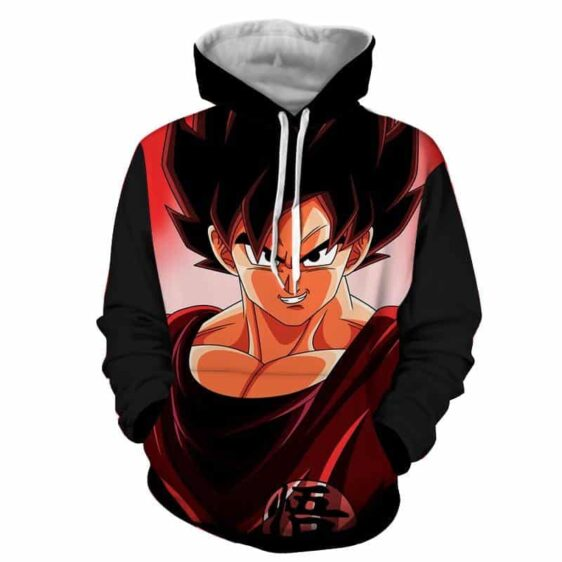 Dragon Ball Son Goku Portrait Japanese Anime Fan Art Hoodie