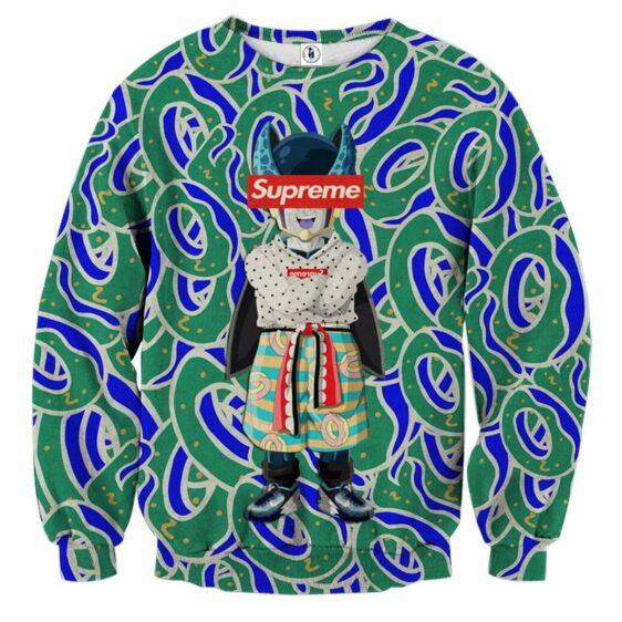 Supreme Villain Perfect Cell Green Blue Trendy Sweatshirt