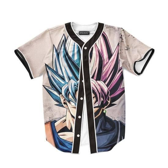 Goku SSGSS Black Rose Super Saiyan Dope Baseball Jersey