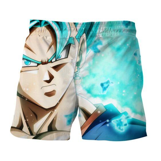 DBZ Vegito Super Saiyan God Blue Portrait Stylish Shorts