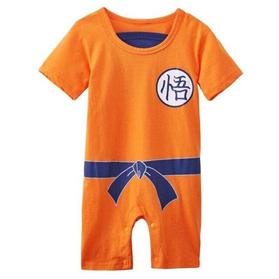 Dragon Ball Z Son Goku's Kanji Cosplay Baby Jumpsuit
