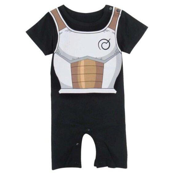 DBZ Vegeta's Armor Cosplay Short Sleeve Black Baby Jumpsuit