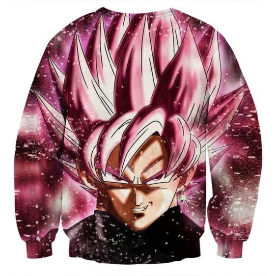Dragon Ball Super Saiyan Goku Black Rose Pink Sweatshirt
