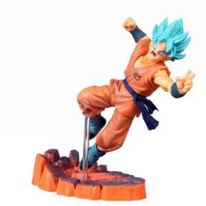 Dragon Ball Z Super Saiyan Blue Hair Son Goku Action Figure