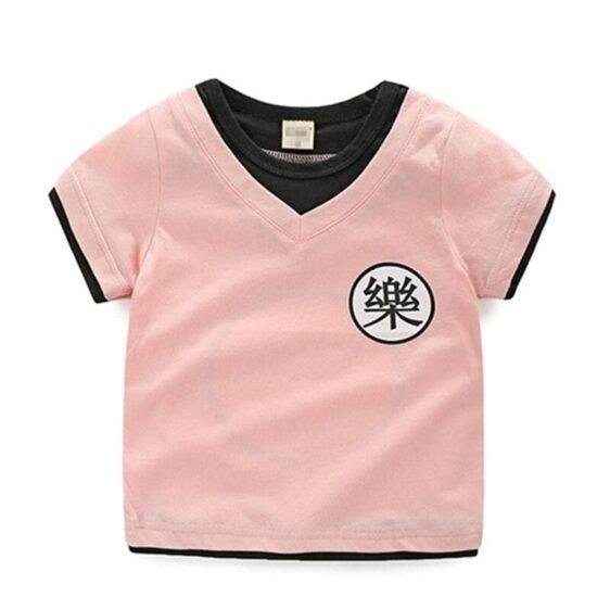 Dragon Ball Z Yamcha's Kanji Cosplay Pink Kids T-Shirt