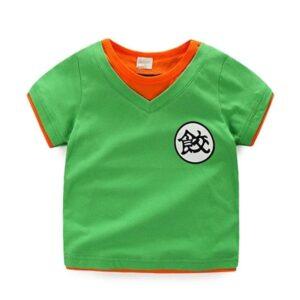 Dragon Ball Z Chiaotzu's Kanji Cosplay Green Kids T-Shirt