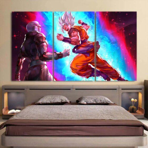 Dragon Ball Powerful Goku Vs Hit Dope Design 3pc Canvas Print