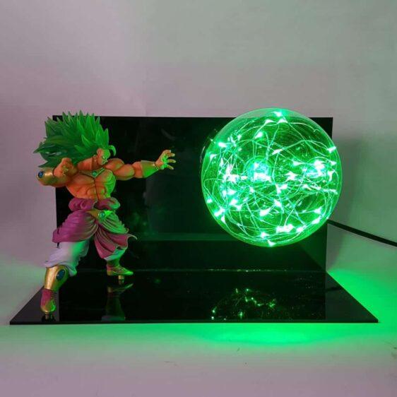 DBZ Broly Omega Blaster Green Flash Ball DIY 3D LED Light Lamp