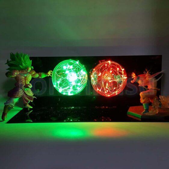 SSJ3 Super Saiyan Broly VS Son Goku Battle LED Lamp Set